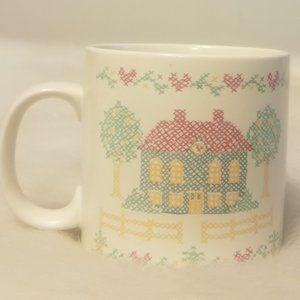 Russ Berrie Stoneware Coffee Mug Vtg